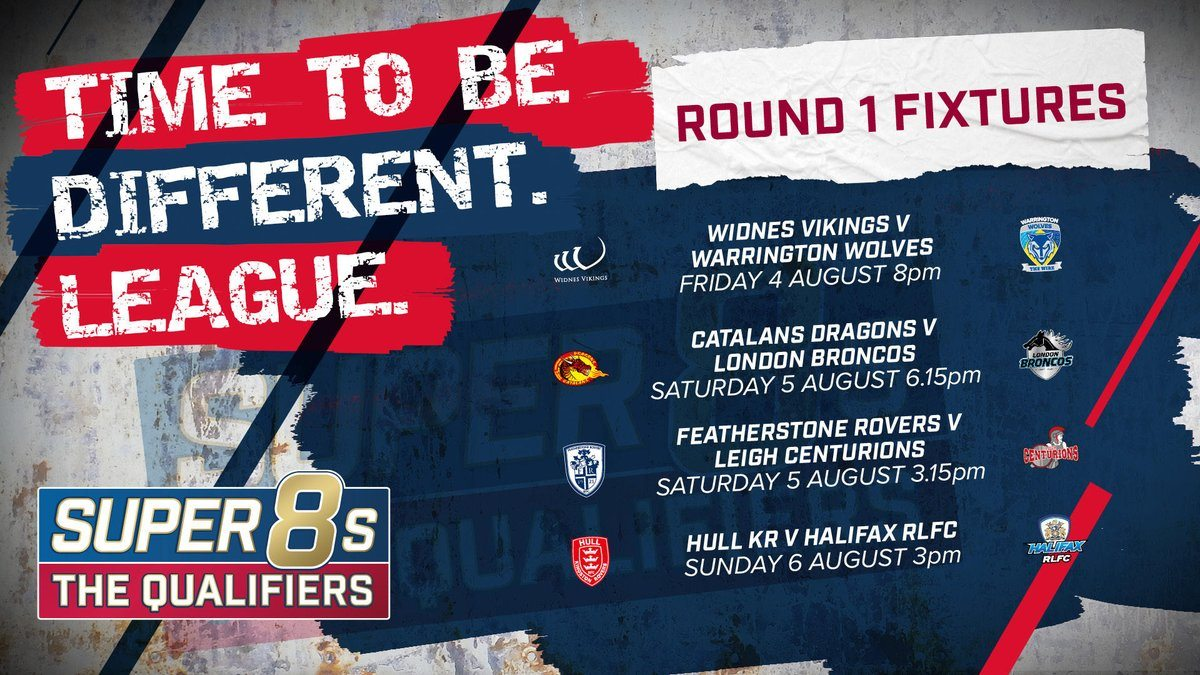 Betfred Super League: Super 8s - The Qualifiers Fixtures ...