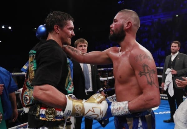Oleksandr Usyk and Tony Bellew